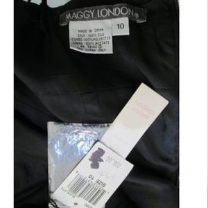 Maggy London Dresses - NEW MAGGY LONDON Embellished Black Silk Dress 10